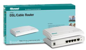Micronet Broadband Router w. 4-Port Switch SP888C